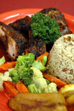 Jerk chicken plate 3 Stock Image