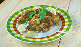 Jerk chicken wings Stock Images