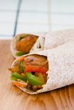 Jerk Chicken Wrap Royalty Free Stock Photography