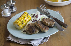 Jerk pork medallions Stock Images