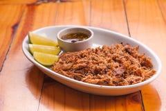 Jerked beef appetizer Stock Photo