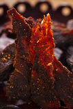 Jerky beef dry cured spiced meat Royalty Free Stock Photography