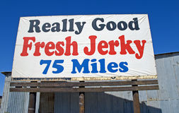 Jerky sign Royalty Free Stock Image