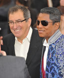 Jermaine Jackson,Kenny Ortega. Jermaine Jackson & director/producer Kenny Ortega (left) at the premiere of Michael Jackson's This Is It at the Nokia Theatre, L.A Royalty Free Stock Photography