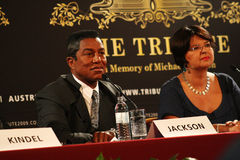 Jermaine Jackson and Renate Brauner Stock Images