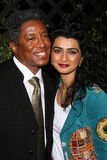 Jermaine Jackson. And wife Haleema  at the Opening of Beso Restaurant. Beso, Hollywood, CA. 03-06-08 Stock Images