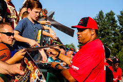 Jermaine Wiggins signs autographs Stock Photos