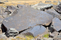 Jermuk, Armenia,  stones with petroglyphs of the 7 Royalty Free Stock Images