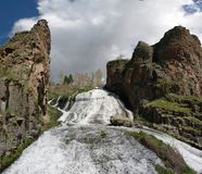 Jermuk waterfall on Arpa river, Armenia Royalty Free Stock Photo
