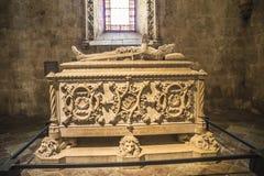 Jerónimos Monastery (Mosteiro dos Jerónimos) sarcophagus Stock Photos
