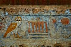 Hieroglyphics en Egipto Fotos de archivo libres de regalías