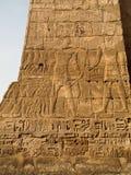 Jeroglíficos del templo de Luxor Foto de archivo libre de regalías