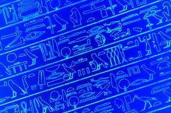 Jeroglíficos egipcios imagen de archivo
