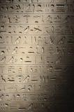Jeroglíficos egipcios antiguos Fotografía de archivo libre de regalías