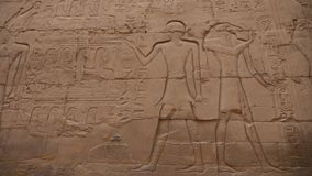 Jeroglíficos egipcios en templo del karnak almacen de video