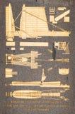 Jeroglíficos en el obelisco egipcio en la plaza de la Concordia, París foto de archivo libre de regalías
