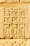 Jeroglíficos en Karnak, Egipto Fotografía de archivo libre de regalías