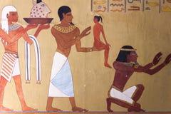 Jeroglíficos y imágenes egipcios Fotografía de archivo libre de regalías