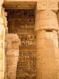 Jeroglíficos y pinturas del templo de Luxor Fotografía de archivo