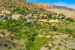 Jerome Arizona-cityscape stock afbeeldingen
