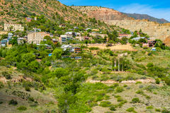 Jerome Arizona cityscape. Scenic view of the popular mountain town of Jerome in Arizona Stock Images