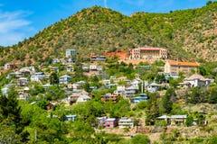 Jerome Arizona cityscape. Scenic view of the popular mountain town of Jerome in Arizona Stock Image