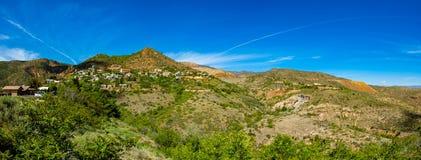 Jerome Arizona. Panoramic view of the popular mountain town of Jerome in Arizona Royalty Free Stock Image