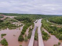 JEROME, MO/USA Maj 1, 2017: Powódź nawadnia zanurza Międzystanowi 44 Zdjęcia Royalty Free