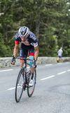 Jerome Pineau op Col. du Tourmalet - Ronde van Frankrijk 2014 stock foto