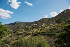 Jerome, uma cidade no Black Hills de Yavapai County, o Arizona Fotografia de Stock