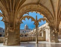 Jeronimos修道院在里斯本,葡萄牙 免版税图库摄影