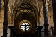Jeronimos修道院在里斯本,葡萄牙 库存图片