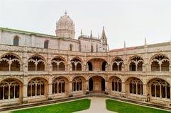 Jeronimos修道院在贝拉母 里斯本 库存图片
