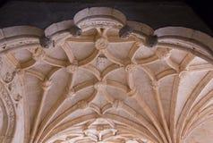 Jeronimos修道院拱顶式顶棚  库存照片