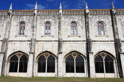 Jeronimos修道院的门面 库存照片