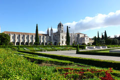 Jeronimos修道院,里斯本,葡萄牙 免版税图库摄影