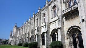 jeronimos修道院,里斯本 库存图片