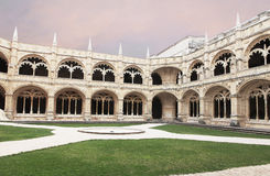 Jeronimos cloister Royalty Free Stock Photos