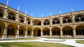 Jeronimos interior court Royalty Free Stock Images