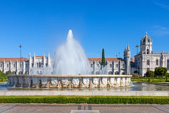(Jeronimos Klooster, Lissabon Royalty-vrije Stock Foto
