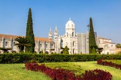 Jeronimos-Kloster in Belem, Lissabon, Portugal stockbilder