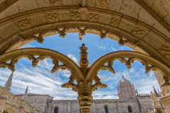 Jeronimos kloster i Lissabon, Portugal Arkivbild