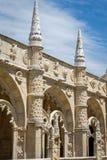 Jeronimos kloster i Lissabon, Portugal Royaltyfri Bild