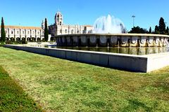 Jeronimos kloster, Lisbon, Portugal Arkivfoto
