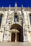 Jeronimos kloster, Lisbon, Portugal Arkivbild