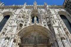 Jeronimos kloster, Lissabon, Portugal Fotografering för Bildbyråer