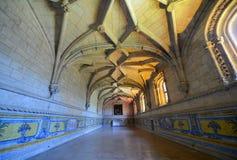 Jeronimos kloster, Lissabon, Portugal Royaltyfria Foton