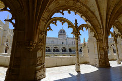 Jeronimos kloster, Lissabon, Portugal Arkivfoton