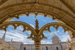 Jeronimos-Kloster in Lissabon, Portugal stockfotografie