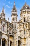 Jeronimos kloster på Lissabon Arkivfoto